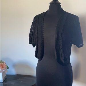 Black lace dressy trendy jacket XL